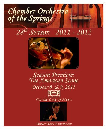28th Season 2011 - 2012 - Chamber Orchestra of the Springs