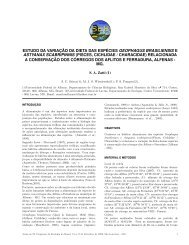 pisces, cichlidae / characidae - Sociedade de Ecologia do Brasil