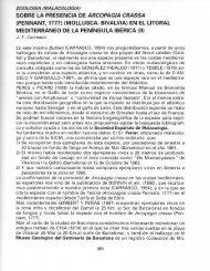 SOBRE LA PRESENCIA DE ARCOPAGIA CRASSA ... - Telefonica.net