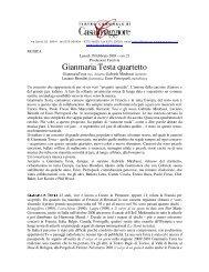 Gianmaria Testa quartetto - Teatro Comunale di Casalmaggiore