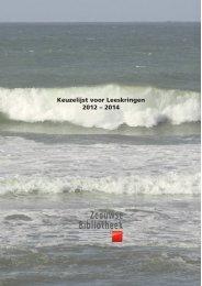 Keuzelijst 2012-2014 - Literatuur in Zeeland