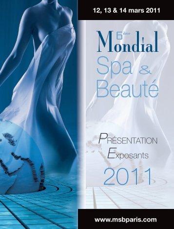 """Dossier de présentation """"Exposants 2011"""" - Mondial Spa & beauté"""