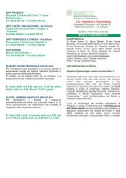 U.O. Ostetricia e Ginecologia MODULO INFORMATIVO - Ausl