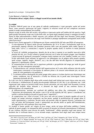 Carlo Balestri e Gabriele Viganò - Progetto Ultrà
