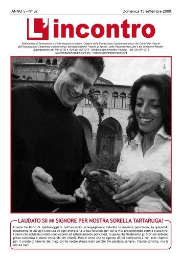 13 settembre 2009 - Il Centro don Vecchi
