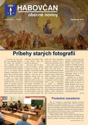 Habovčan 01/2010 (1,5 MB formát PDF) - Obec Habovka