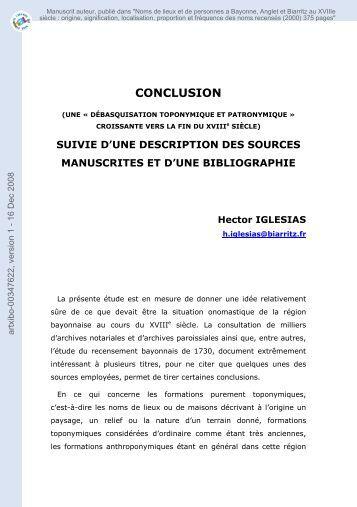 SUIVIE D'UNE DESCRIPTION DES SOURCES MANUSCRITES ET ...