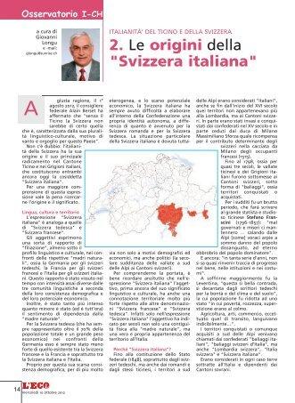 """2. Le origini della """"Svizzera italiana"""" - Coscienza Svizzera"""
