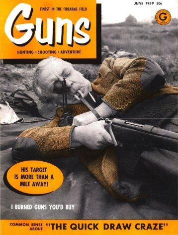 GUNS Magazine June 1959 - Free Shop Manual
