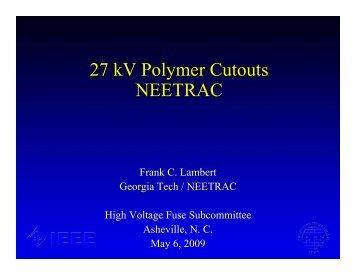 27kV Polymer Cutouts - neetrac