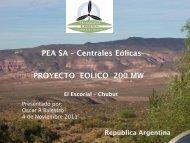 Parque Eólico El Angelito - Organismos