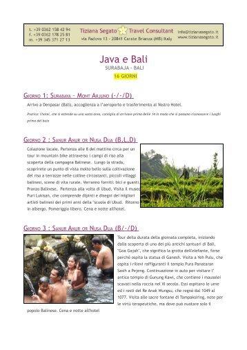 Alla scoperta di Java e Bali - Tiziana Segato