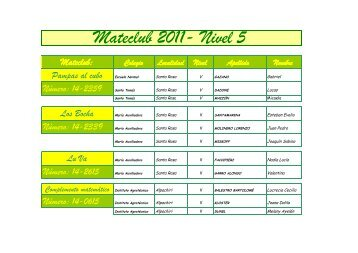 Mateclub 2011- Nivel 5