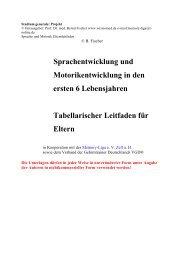 Tabellarischer Leitfaden für Eltern - Wissiomed.de
