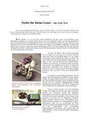 Nichts für kleine Leute – der erste Test - WITEC Motorsport GmbH