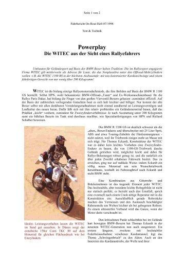 Powerplay - WITEC Motorsport GmbH