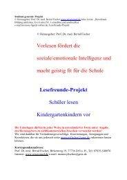 Vorlesen fördert die soziale/emotionale Intelligenz ... - Wissiomed.de