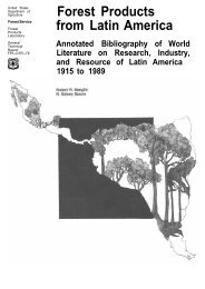 Forest Products from Latin America. Annotated Bibliography of ...