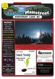 February 2013 - The East Shore Mainstreet