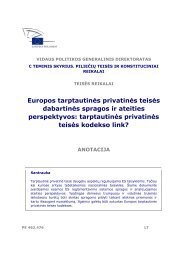 Europos tarptautinės privatinės teisės dabartinės spragos ... - Europa