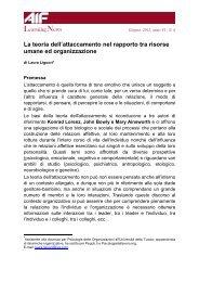 Laura Liguori La teoria dell'attaccamento nel rapporto tra risorse - Aif