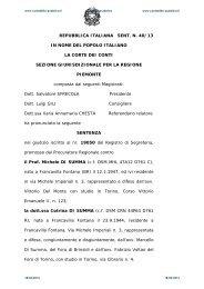 Sentenza n. 40 del 13 marzo 2013 - Contabilità Pubblica