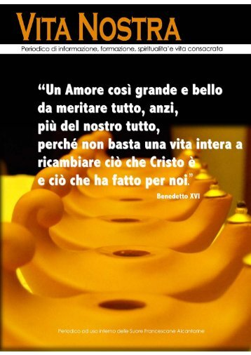 vita nostra_febb10 (4M) - Suore Francescane Alcantarine