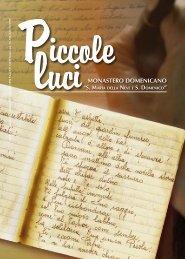 Piccole Luci - n 1 gennaio-aprile 2010 - Monastero Monache ...