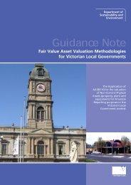 Fair Value Asset Valuation Methodologies for Victorian Local