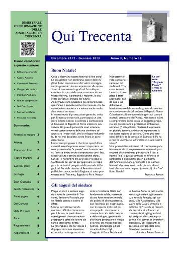 Anno 3, Numero 18 - Dicembre 2012 - Gennaio 2013 - Qui Trecenta ...