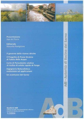 Download Quaderno AdB 1/2004 - Autorità di Bacino del Sarno