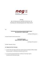 Infrastrukturnutzungsvertrag - Norddeutsche Eisenbahngesellschaft ...