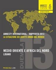 1_INTRODUZIONE_amnesty 2013 - Rapporto annuale - Amnesty ...