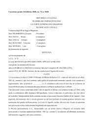 Sentenza - ufficiale giudiziario su internet - UIUG