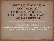 Relazione Dr.ssa Stefanini - Società della Salute di Firenze