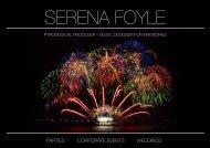 PARTIES CORPORATE EVENTS WEDDINGS - Serena Foyle