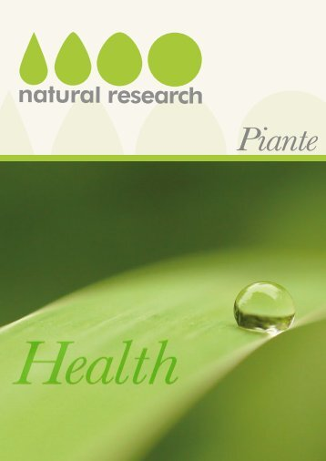 Piante - Natural Research SNC