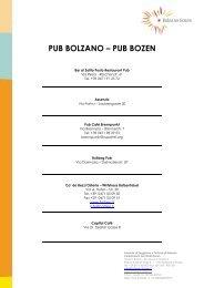 elenco pub e bar - Bolzano