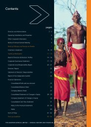 Download TPS, East Africa 2008 Annual Report - Serena Hotels