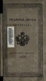 Pharmacopoea austriaca - Storia della Farmacia
