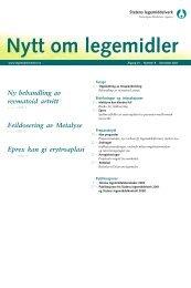 Nytt om legemidler - 2001 - nr 8 - Statens legemiddelverk