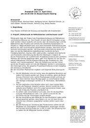 Protokoll vom 11. April 2011 - Wittelsbacher Land eV