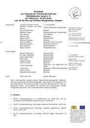 4. Vorstandssitzung 2010 - Wittelsbacher Land eV