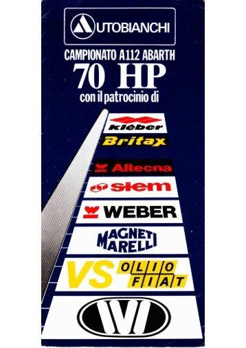 ~ 70 HP - A112 Abarth Club