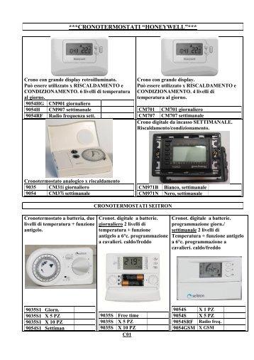 Cronotermostato touch scr for Bpt termostato istruzioni