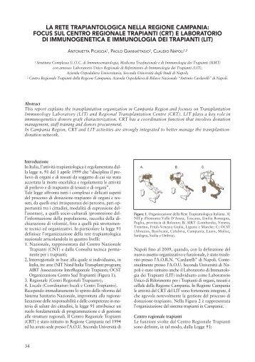 la rete trapiantologica nella regione campania - AIPaCMeM