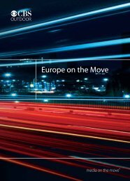 CBS Outdoor's Europe on the Move survey is a ... - Neo Advertising
