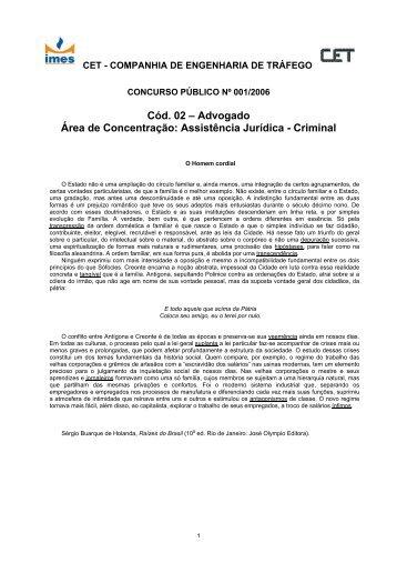 Prova Advogado Área 2 - Central de Concursos