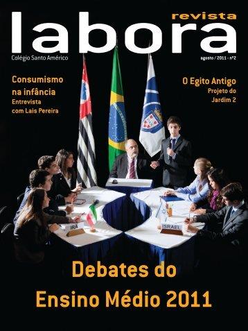 Debates do Ensino Médio 2011 - Colégio Santo Américo