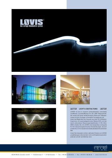 LOVIS Beschreibung und Technische Daten - nmd - Licht am Bau